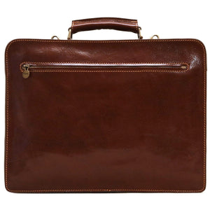 Floto Italian Leather Briefcase Attache Corsica Brown 5