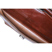 Load image into Gallery viewer, Floto Italian Leather Briefcase Attache Corsica Brown 6