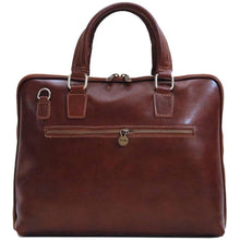 Load image into Gallery viewer, leather slim briefcase floto cortona