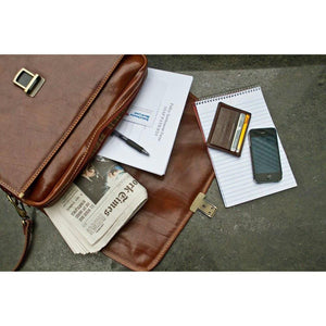 leather briefcase cortona