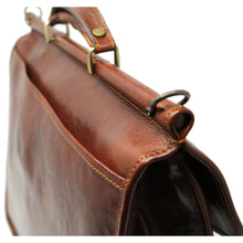 Load image into Gallery viewer, Floto Italian leather briefcase Firenze Dowell men's bag brown 3
