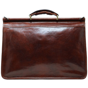 Floto Italian leather briefcase Firenze Dowell men's bag brown 4
