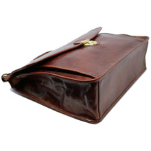 Load image into Gallery viewer, Floto Italian leather briefcase Firenze Dowell men's bag brown 5