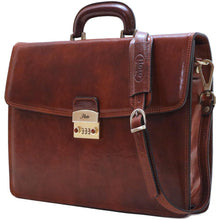 Load image into Gallery viewer, leather briefcase milano combination lock