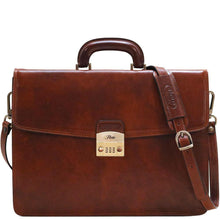 Load image into Gallery viewer, Floto Italian leather briefcase milano combination lock