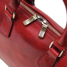 Load image into Gallery viewer, Leather Slim Briefcase Milano Red Close