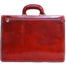Load image into Gallery viewer, Floto Milano Leather Briefcase in Tuscan Red