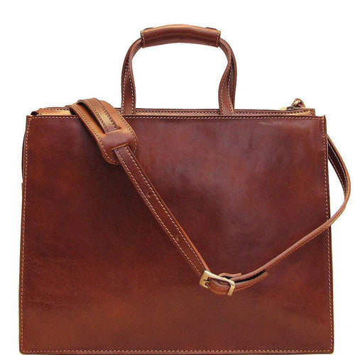 leather attache briefcase