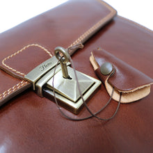 Load image into Gallery viewer, Leather Briefcase Floto Novella Italian Messenger Bag Attache brown 6