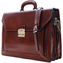 Load image into Gallery viewer, leather briefcase venezia combination lock