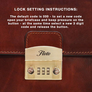 How to set a Floto Briefcase Combination Lock