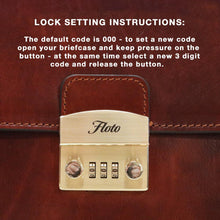 Load image into Gallery viewer, How to set a Floto Briefcase Combination Lock