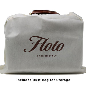 Leather Briefcase Floto Novella Italian Messenger Bag Attache dust bag