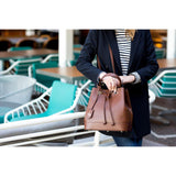 Leather Bag Floto Milano Bucket brown