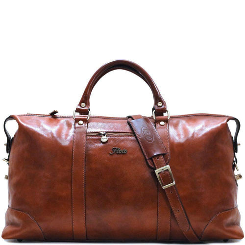 Floto Italian Leather Duffle Bag Suitcase brown