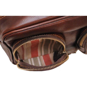 leather cross body camera bag floto novella field brown