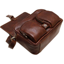 Load image into Gallery viewer, leather cross body camera bag floto novella field brown