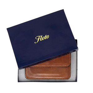 Floto Italian Leather Card Case Wallet packaging
