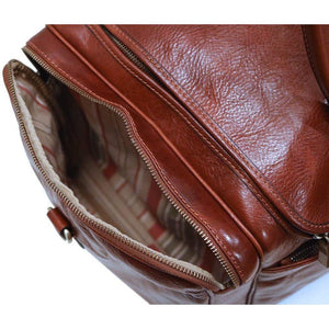 Floto Leather Cargo Duffle Bag Brown floto