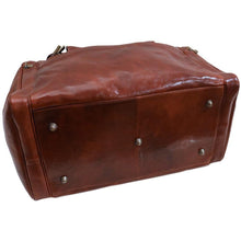 Load image into Gallery viewer, Floto Leather Cargo Duffle Bag Brown Small floto