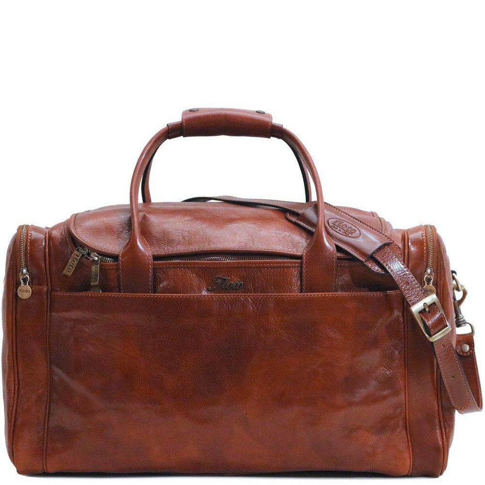 Floto Italian Leather Cargo Duffle Bag Suitcase Large brown