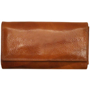 Roma Checkbook Leather Wallet front