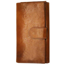 Load image into Gallery viewer, Floto Italian Roma Checkbook Leather Wallet