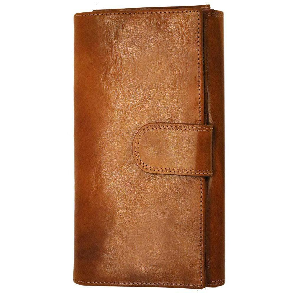 Floto Italian Roma Checkbook Leather Wallet