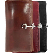 Load image into Gallery viewer, Italian Leather Checkbook Wallet Floto Firenze with Change Pouch all colors