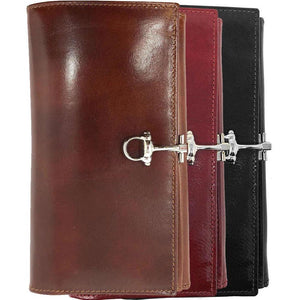 Italian Leather Checkbook Wallet Floto Firenze with Change Pouch all colors
