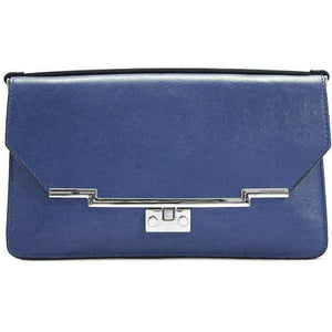 Leather Clutch Floto Firenze in Saffiano - aqua blue