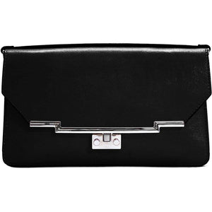Leather Clutch Floto Firenze in Saffiano - black
