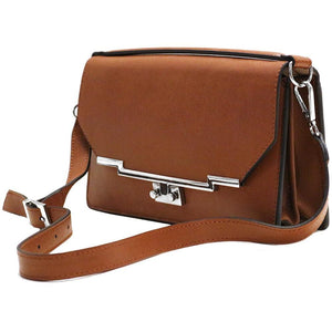 Leather Clutch Floto Firenze in Saffiano - brown side