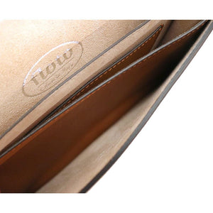 Leather Clutch Floto Firenze in Saffiano - brown inside 2