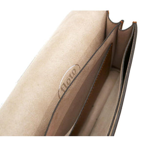 Leather Clutch Floto Firenze in Saffiano - ivory inside