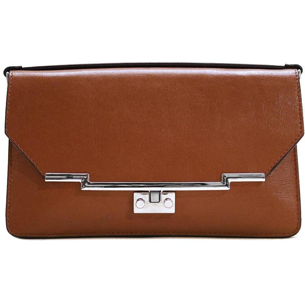 Leather Clutch Floto Firenze in Saffiano - brown