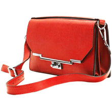 Load image into Gallery viewer, Leather Clutch Floto Firenze in Saffiano - red side