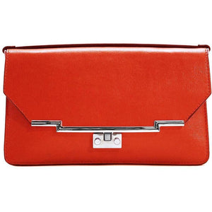 Leather Clutch Floto Firenze in Saffiano - red