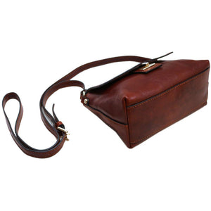 Floto Sapri Leather Bag in full grain calfskin brown