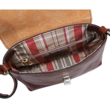 Load image into Gallery viewer, Floto Sapri Leather Bag in full grain calfskin brown