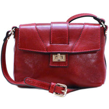 Load image into Gallery viewer, Floto Sapri Leather Bag in full grain calfskin red