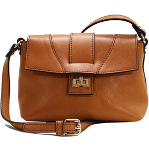 Floto Sapri Leather Bag in full grain calfskin tan