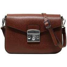 Load image into Gallery viewer, floto leather cross body stachel women's bag sapri dark brown