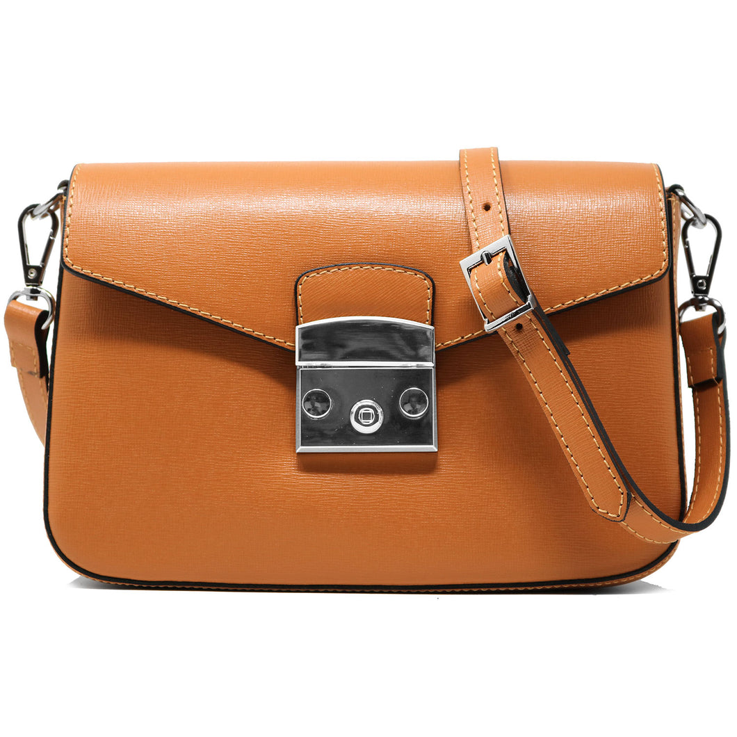floto leather cross body stachel women's bag sapri light brown