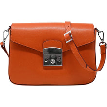 Load image into Gallery viewer, floto leather cross body stachel women's bag sapri orange