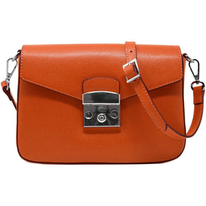 floto leather cross body stachel women's bag sapri orange