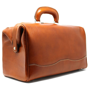 Floto Italian Leather Doctor Style Handbag Top Handle Bag back