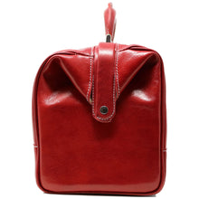 Load image into Gallery viewer, Floto Italian Leather Doctor Style Handbag Top Handle Bag red end