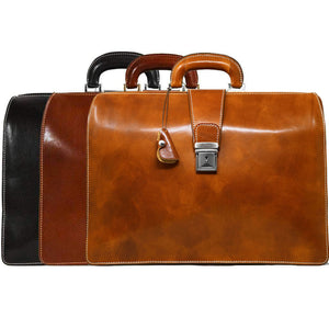 leather briefcase attache floto ciabatta