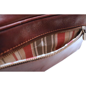 Leather Dopp Travel Kit Bag Floto inside pocket